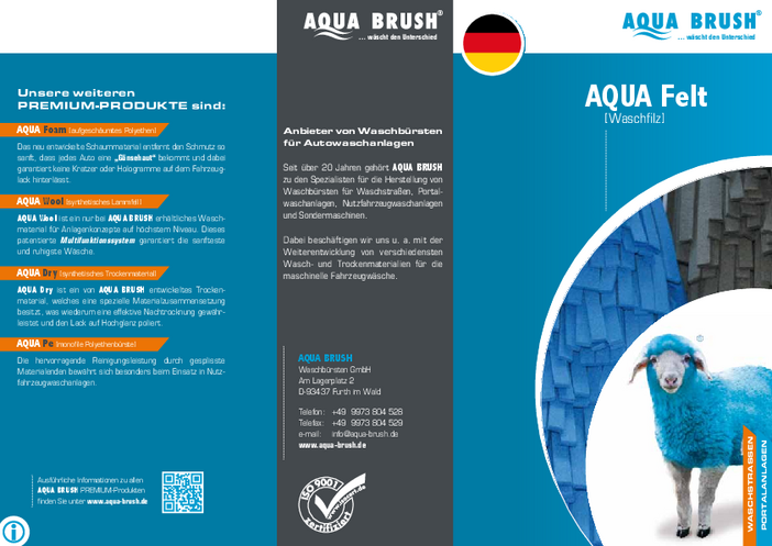 Our product flyer with all details about AQUA Felt can be downloaded as a PDF file.