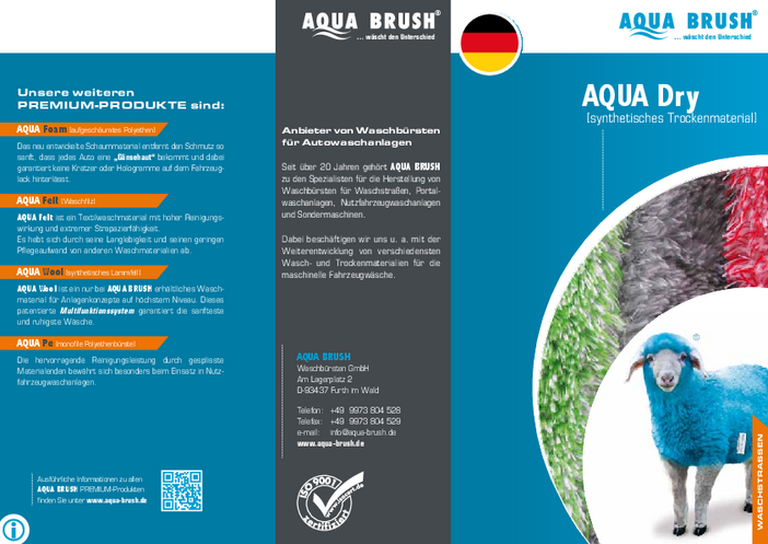 Our product flyer with all details about AQUA Dry can be downloaded as a PDF file.